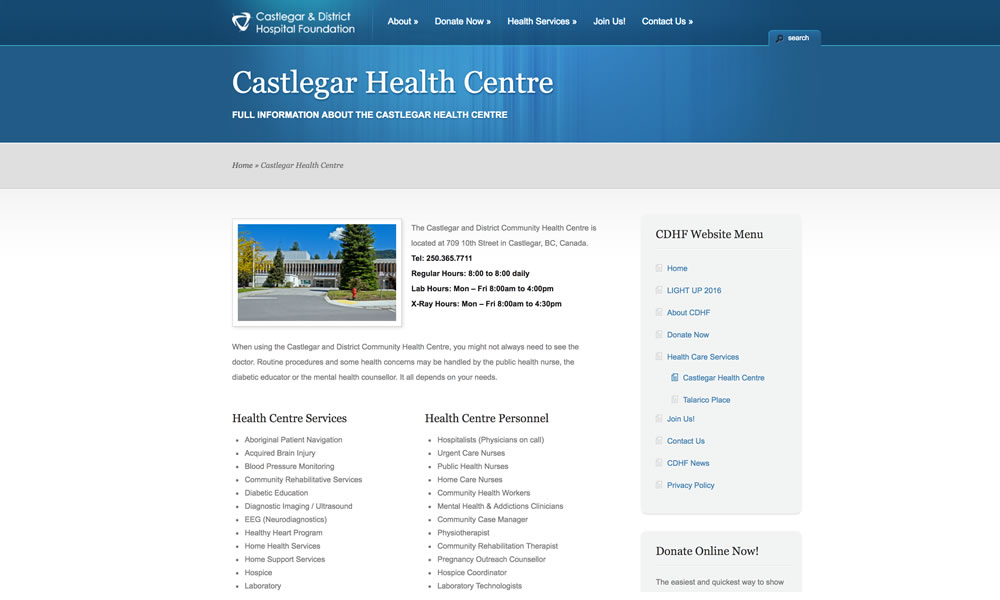 http://www.castlegarhospitalfoundation.org/health-care-services/castlegar-district-community-health-centre/