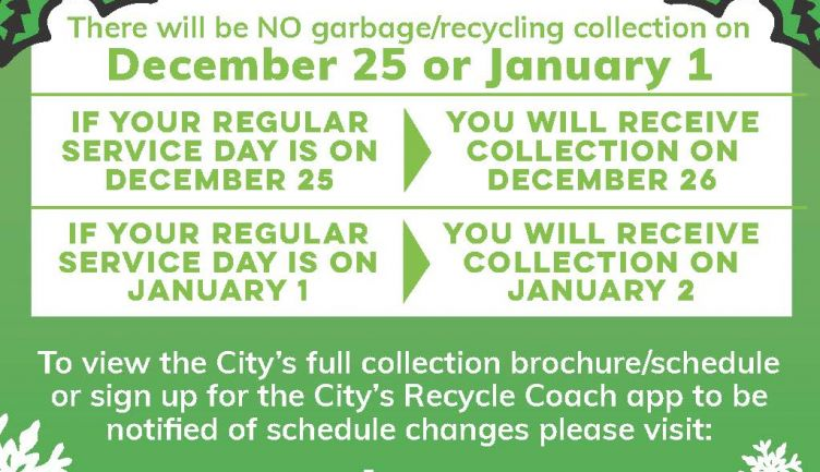 Garbage & Recycling Holiday Schedule